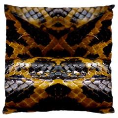 Textures Snake Skin Patterns Standard Flano Cushion Case (One Side)
