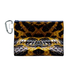 Textures Snake Skin Patterns Canvas Cosmetic Bag (M)