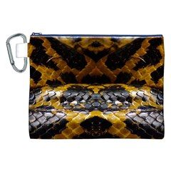 Textures Snake Skin Patterns Canvas Cosmetic Bag (XXL)