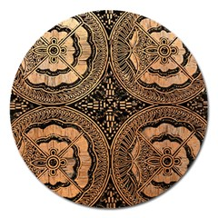 The Art Of Batik Printing Magnet 5  (Round)