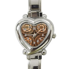 The Art Of Batik Printing Heart Italian Charm Watch