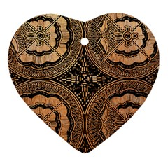The Art Of Batik Printing Heart Ornament (two Sides)