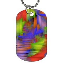 Texture Pattern Programming Processing Dog Tag (One Side)