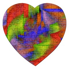 Texture Pattern Programming Processing Jigsaw Puzzle (heart)