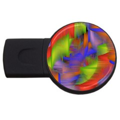 Texture Pattern Programming Processing USB Flash Drive Round (4 GB)