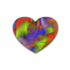 Texture Pattern Programming Processing Rubber Coaster (Heart)