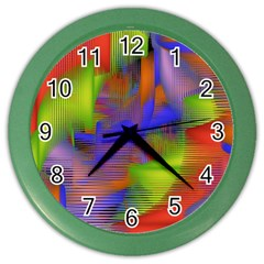 Texture Pattern Programming Processing Color Wall Clocks