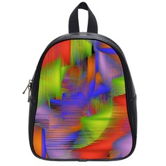 Texture Pattern Programming Processing School Bags (small)