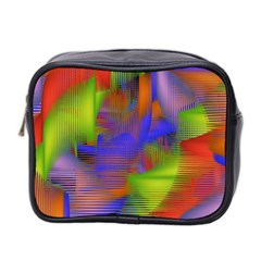 Texture Pattern Programming Processing Mini Toiletries Bag 2-Side