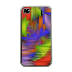 Texture Pattern Programming Processing Apple Iphone 4 Case (clear)