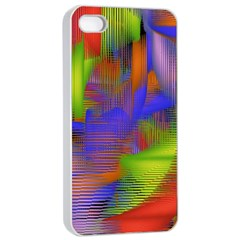 Texture Pattern Programming Processing Apple Iphone 4/4s Seamless Case (white)