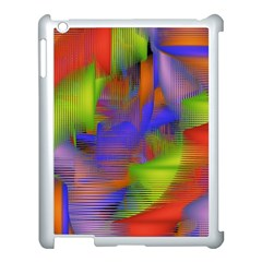 Texture Pattern Programming Processing Apple iPad 3/4 Case (White)