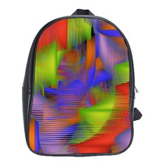 Texture Pattern Programming Processing School Bags (XL)