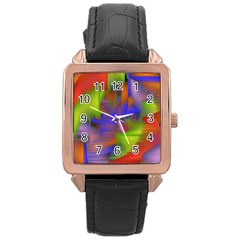 Texture Pattern Programming Processing Rose Gold Leather Watch