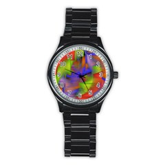 Texture Pattern Programming Processing Stainless Steel Round Watch