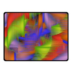 Texture Pattern Programming Processing Double Sided Fleece Blanket (small)