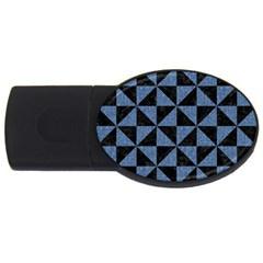 TRI1 BK-MRBL BL-LTHR USB Flash Drive Oval (4 GB)