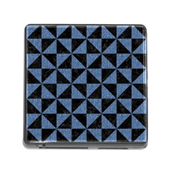 TRI1 BK-MRBL BL-LTHR Memory Card Reader (Square)
