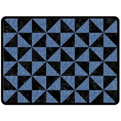 TRI1 BK-MRBL BL-LTHR Fleece Blanket (Large)