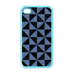 TRI1 BK-MRBL BL-LTHR Apple iPhone 4 Case (Color)