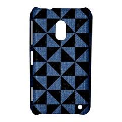 Triangle1 Black Marble & Blue Denim Nokia Lumia 620 Hardshell Case