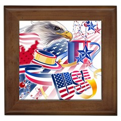 United States Of America Usa  Images Independence Day Framed Tiles