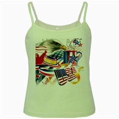 United States Of America Usa  Images Independence Day Green Spaghetti Tank