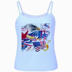 United States Of America Usa  Images Independence Day Baby Blue Spaghetti Tank