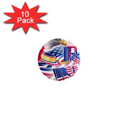 United States Of America Usa  Images Independence Day 1  Mini Magnet (10 pack)