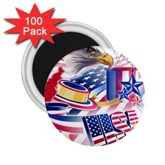 United States Of America Usa  Images Independence Day 2.25  Magnets (100 pack)
