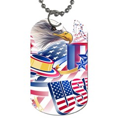 United States Of America Usa  Images Independence Day Dog Tag (One Side)