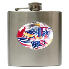 United States Of America Usa  Images Independence Day Hip Flask (6 Oz)