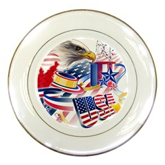 United States Of America Usa  Images Independence Day Porcelain Plates