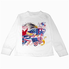 United States Of America Usa  Images Independence Day Kids Long Sleeve T-Shirts