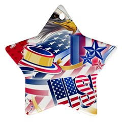 United States Of America Usa  Images Independence Day Star Ornament (two Sides)