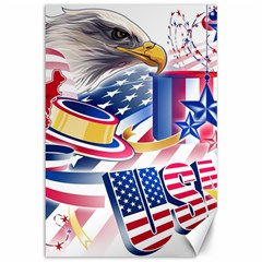 United States Of America Usa  Images Independence Day Canvas 12  x 18