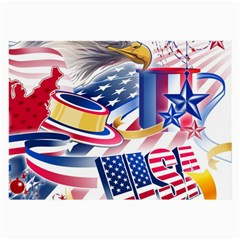 United States Of America Usa  Images Independence Day Large Glasses Cloth
