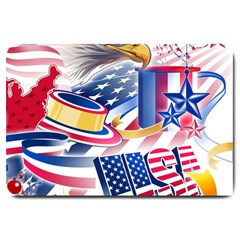 United States Of America Usa  Images Independence Day Large Doormat