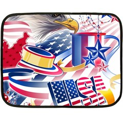 United States Of America Usa  Images Independence Day Double Sided Fleece Blanket (Mini)