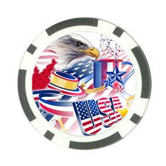 United States Of America Usa  Images Independence Day Poker Chip Card Guard (10 pack)