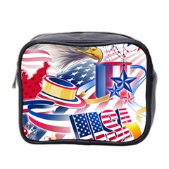 United States Of America Usa  Images Independence Day Mini Toiletries Bag 2 Side