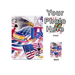 United States Of America Usa  Images Independence Day Playing Cards 54 (Mini)
