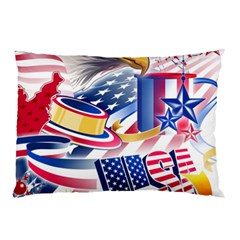 United States Of America Usa  Images Independence Day Pillow Case (two Sides)