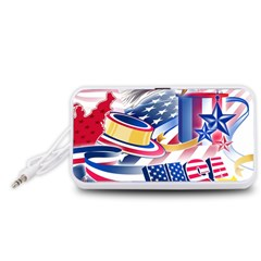 United States Of America Usa  Images Independence Day Portable Speaker (White)