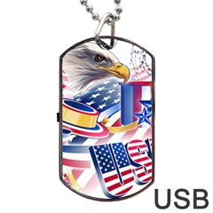 United States Of America Usa  Images Independence Day Dog Tag USB Flash (One Side)