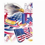 United States Of America Usa  Images Independence Day Small Garden Flag (Two Sides) Back