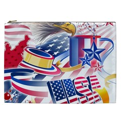 United States Of America Usa  Images Independence Day Cosmetic Bag (XXL)