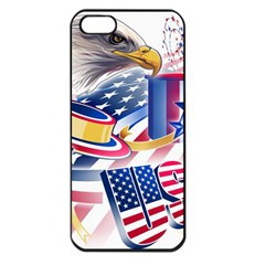 United States Of America Usa  Images Independence Day Apple iPhone 5 Seamless Case (Black)