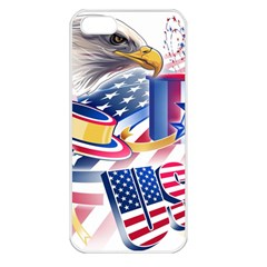 United States Of America Usa  Images Independence Day Apple Iphone 5 Seamless Case (white)