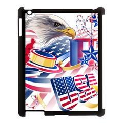 United States Of America Usa  Images Independence Day Apple iPad 3/4 Case (Black)